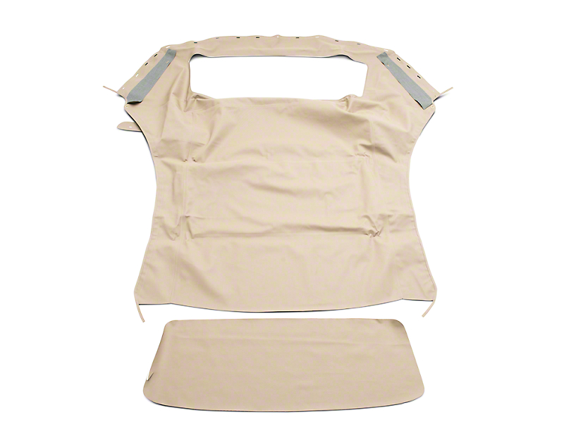 OPR Convertible Top with Plastic Window; Sailcloth Parchment (94-04 Convertible)