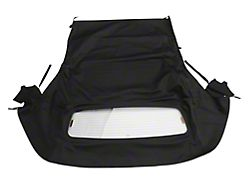 OPR Convertible Top with Heated Glass; Twill Cloth Black (05-14 Convertible)