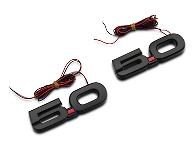 MP Concepts LED 5.0 Fender Emblems - Red (15-18 GT)