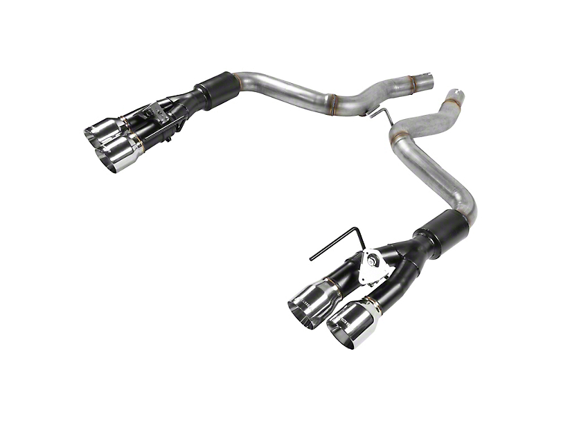 Flowmaster Outlaw Axle-Back Exhaust w/ Polished Tips (18-20 GT w/ Active Exhaust)