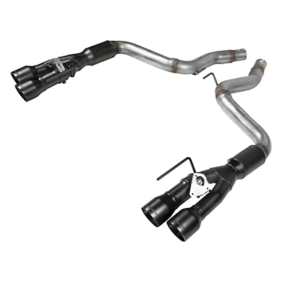 Flowmaster Outlaw Series Axle-Back Exhaust w/ Black Tips (2018 GT w/ Active Exhaust)
