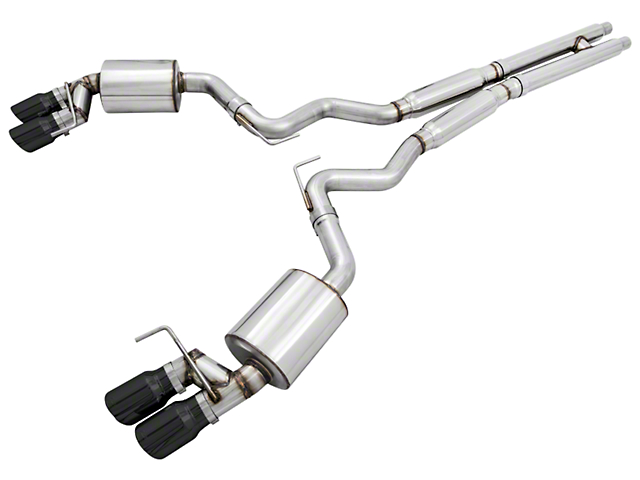AWE Touring Edition Cat-Back Exhaust with Diamond Black Tips (15-17 GT Premium Fastback w/ MP Concepts GT350 Style Rear Diffuser)