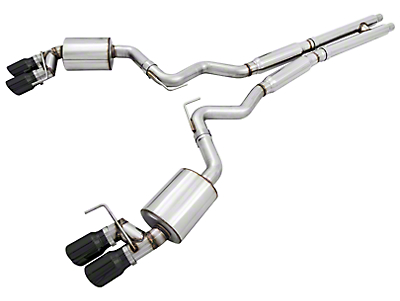 AWE Touring Edition Cat-Back Exhaust w/ Diamond Black Tips (15-17 GT Premium Fastback w/ MP Concepts GT350 Style Rear Diffuser)