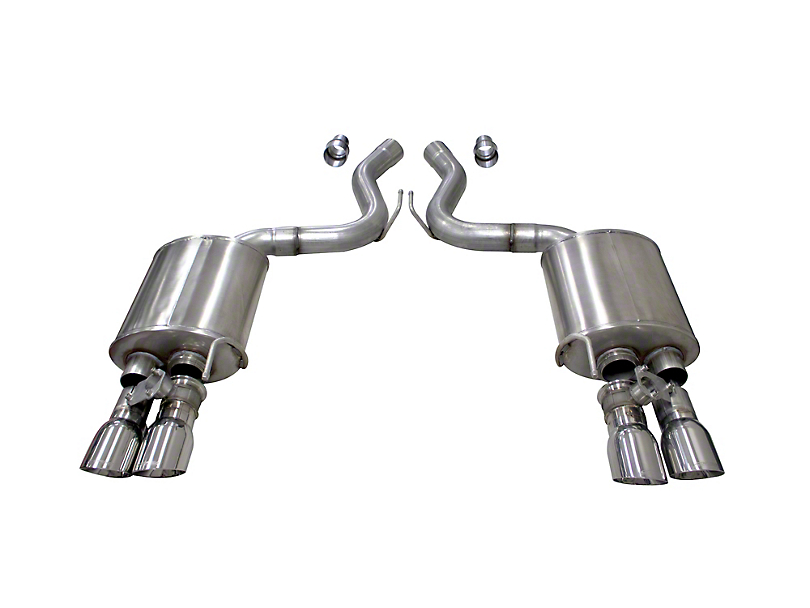 Corsa Sport Axle Back Exhaust w/ Polished Tips (2018 GT Fastback w/ Active Exhaust)