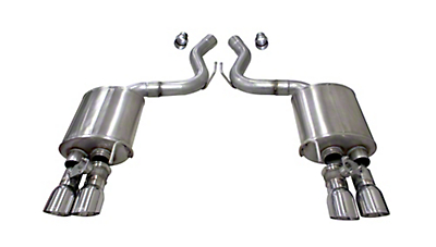 Corsa Sport Axle Back Exhaust w/ Polished Tips (18-19 GT Fastback w/ Active Exhaust)