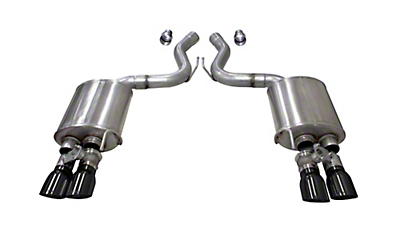 Corsa Sport Axle Back Exhaust w/ Black Tips (18-19 GT Fastback w/ Active Exhaust)