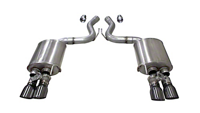 Corsa Sport Axle Back Exhaust w/ Gunmetal Tips (18-19 GT Fastback w/ Active Exhaust)