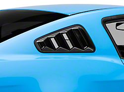 SpeedForm Quarter Window Louvers; Gloss Black (10-14 Coupe)