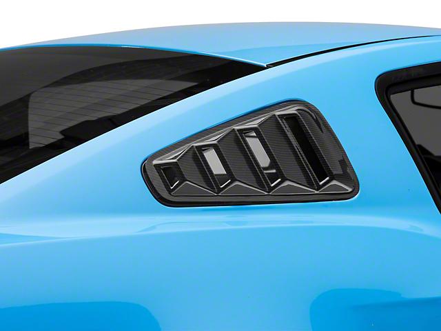 SpeedForm Quarter Window Louvers; Carbon Fiber Appearance (10-14 Coupe)