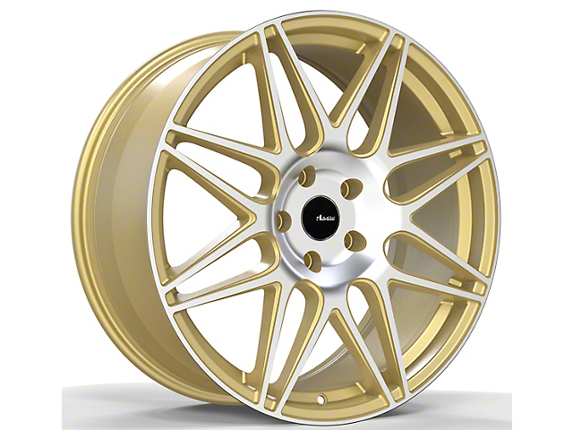 Advanti Classe Gold Machined Face Wheel; Rear Only; 19x9.5 (10-14 All)