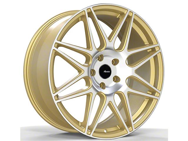 Advanti Classe Gold Machined Face Wheel; 20x9 (10-14 All)