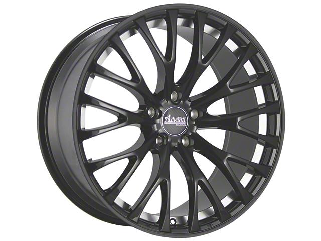 Advanti Fastoso Matte Black with Machined Undercut Wheel; Rear Only; 19x9.5 (15-20 GT, EcoBoost, V6)
