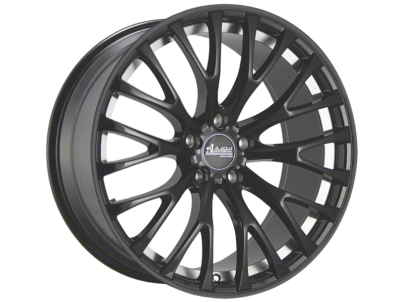 Advanti Fastoso Matte Black with Machined Undercut Wheel; Rear Only; 20x10 (15-20 GT, EcoBoost, V6)