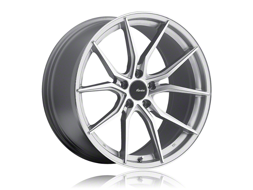 Advanti Hybris Silver Machined Wheel; Rear Only; 19x9.5 (15-20 GT, EcoBoost, V6)
