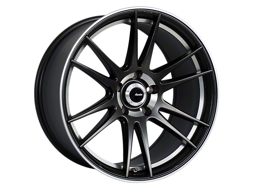 Advanti Optimo Matte Black with Machined Lip Wheel; 18x9.5 (15-20 EcoBoost, V6)