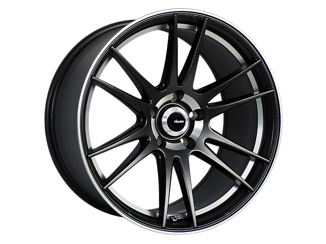 Advanti Optimo Matte Black with Machined Lip Wheel; Rear Only; 19x9.5 (15-20 GT, EcoBoost, V6)