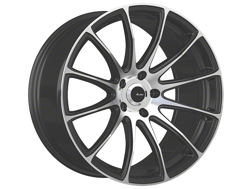 Advanti Svelto Matte Black Machined Wheel; 18x8 (05-09 GT, V6)