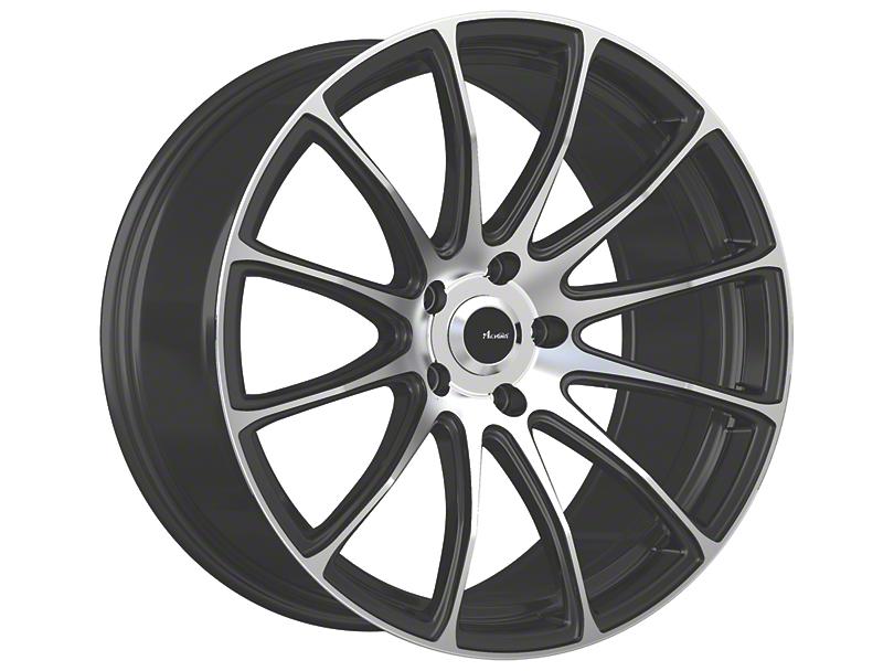 Advanti Svelto Matte Black Machined Wheel; 18x9 (15-20 EcoBoost, V6)