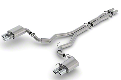 Borla S-Type Cat-Back Exhaust w/ Chrome Tips (2018 GT Fastback w/ Active Exhaust)