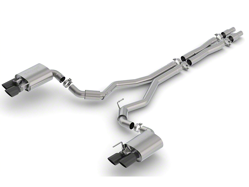 Borla Stinger S-Type Cat-Back Exhaust w/ Black Chrome Tips (18-20 GT Fastback w/ Active Exhaust)