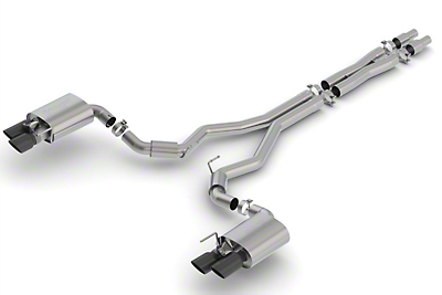 Borla Stinger S-Type Cat-Back Exhaust w/ Black Chrome Tips (18-19 GT Fastback w/ Active Exhaust)