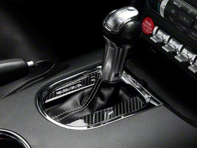 SpeedForm Carbon Fiber Style Automatic Shifter Trim (15-19 GT, EcoBoost, V6)