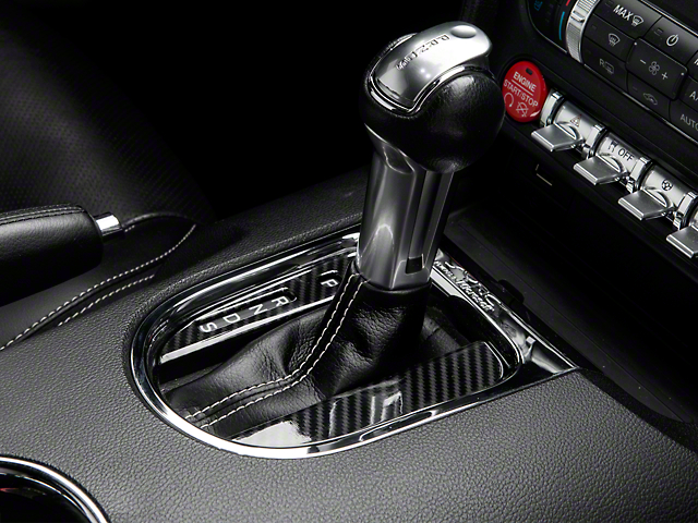 SpeedForm Carbon Fiber Style Automatic Shifter Trim (15-20 GT, EcoBoost, V6)