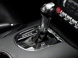 SpeedForm Automatic Shifter Trim; Carbon Fiber Style (15-20 GT, EcoBoost, V6)