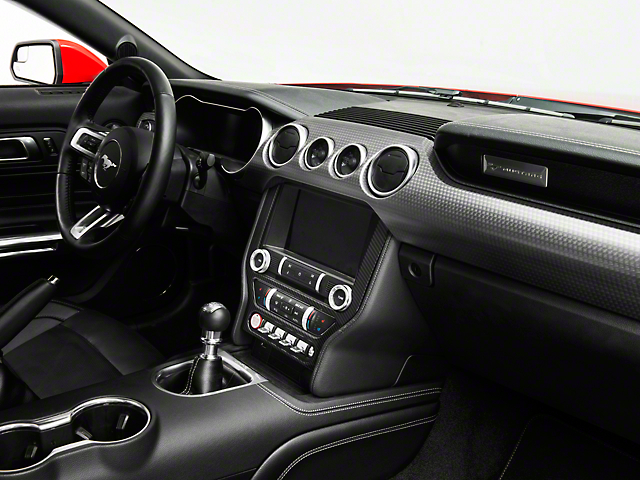 SpeedForm Center Dash Trim; Carbon Fiber Style (15-20 All)