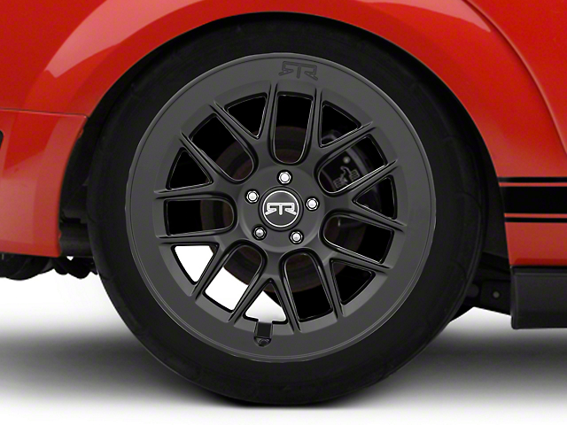 RTR Aero 7 Black Wheel; Rear Only; 20x10.5 (05-09 All)