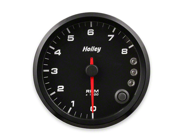 Holley Performance 3-3/8-Inch Analog-Style Tachometer; 0-8K; Black (Universal Fitment)