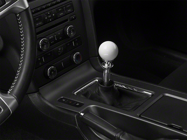Automatic Transmission Shifter Conversion Kit - White Shift Knob (11-14 GT, V6)