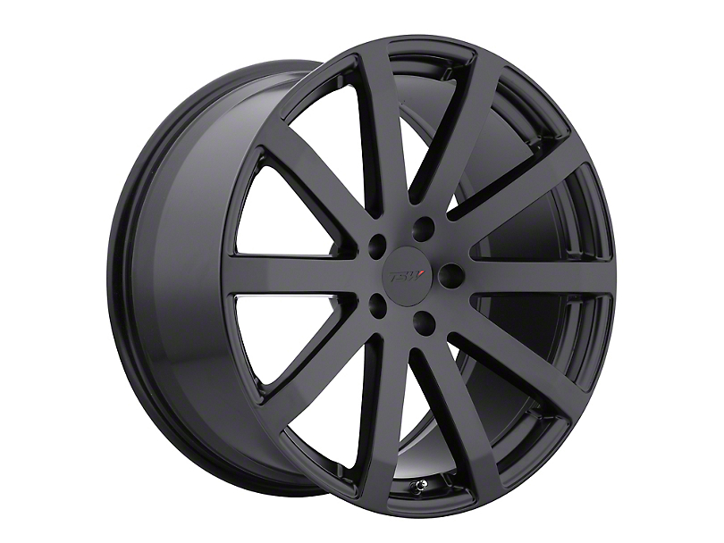 TSW Brooklands Matte Black Wheel; Rear Only; 20x10 (05-09 All)