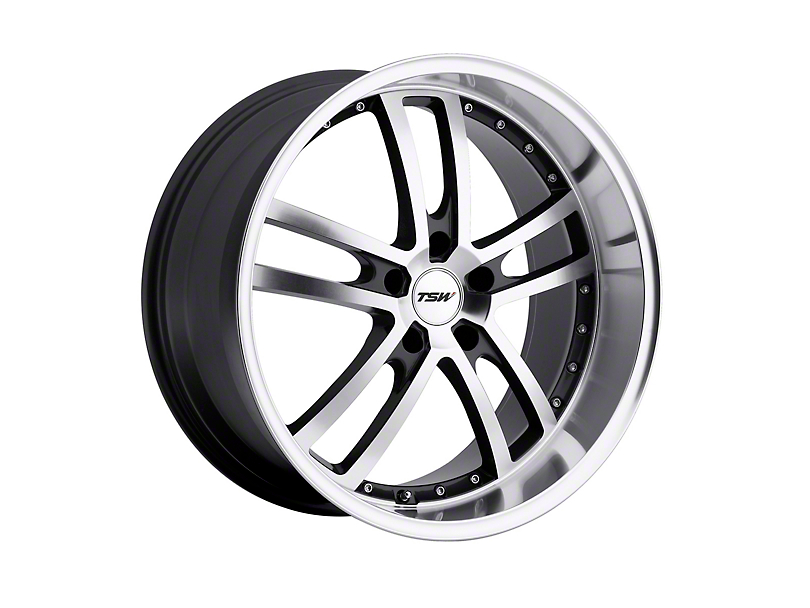 TSW Cadwell Gunmetal with Mirror Cut Face Wheel; Rear Only; 20x10 (15-20 GT, EcoBoost, V6)