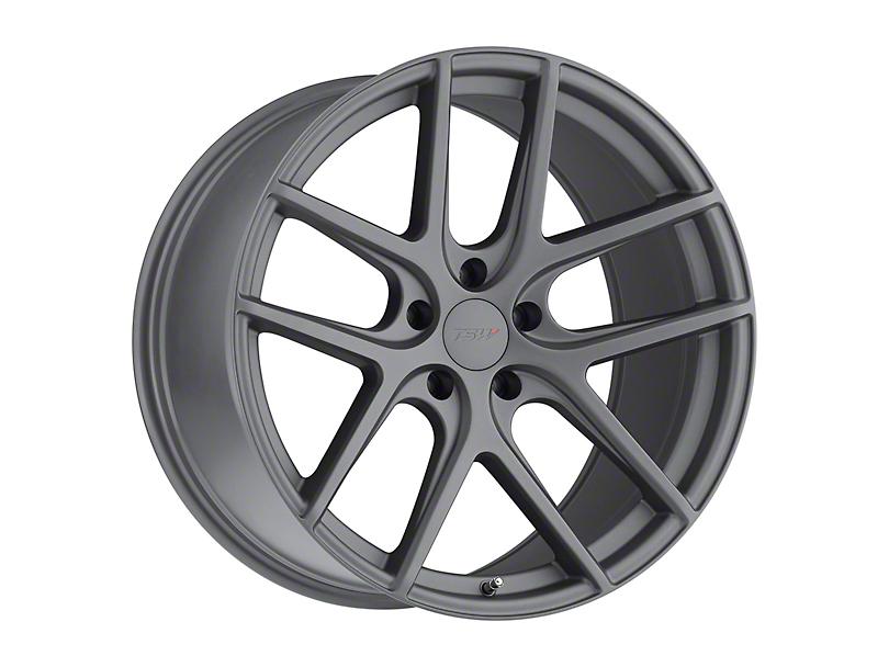 TSW Geneva Matte Gunmetal Wheel; 19x8.5 (15-20 GT, EcoBoost, V6)