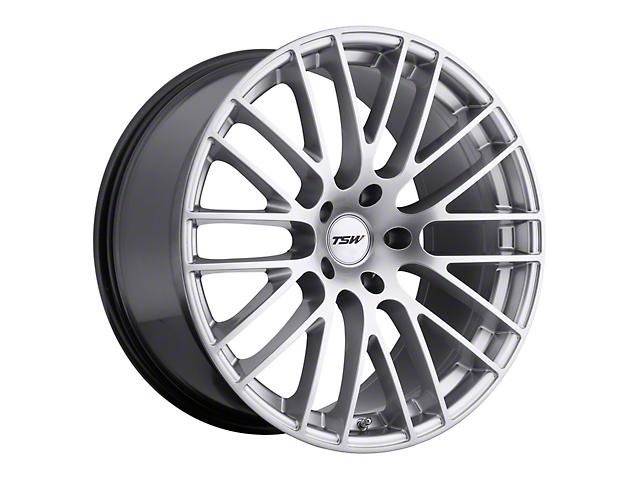 TSW Max Hyper Silver Wheel; Rear Only; 20x10 (05-09 All)