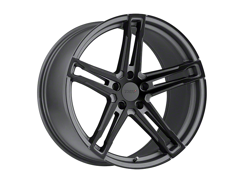 TSW Mechanica Matte Gunmetal with Matte Black Face Wheel; 19x9 (15-20 GT, EcoBoost, V6)