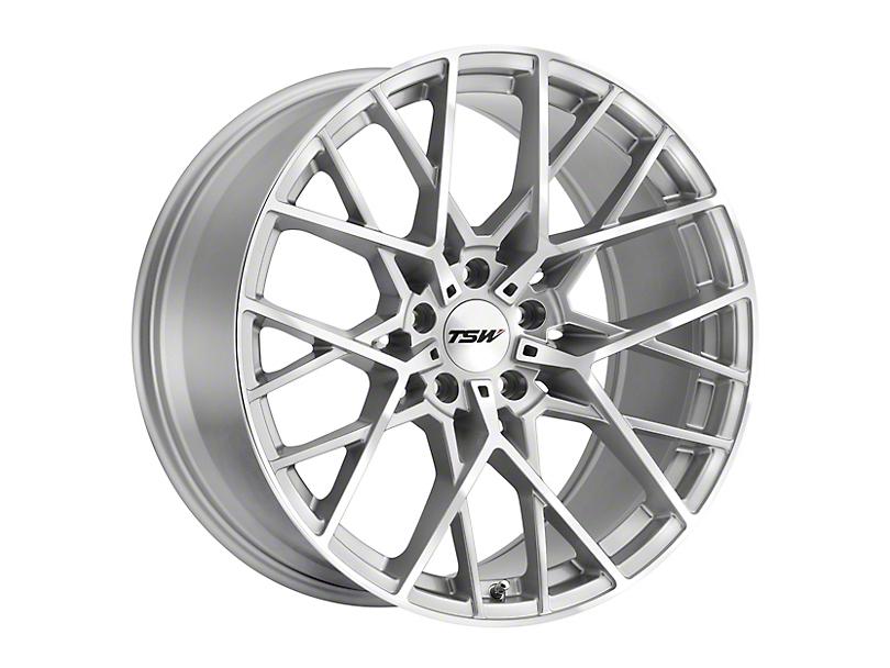 TSW Sebring Silver Wheel; 20x8.5 (10-14 Standard GT, V6)
