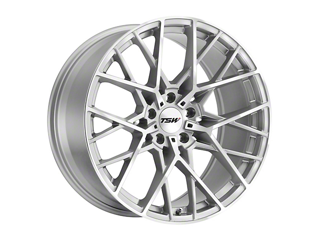 TSW Sebring Silver Wheel; Rear Only; 19x9.5 (10-14 All)