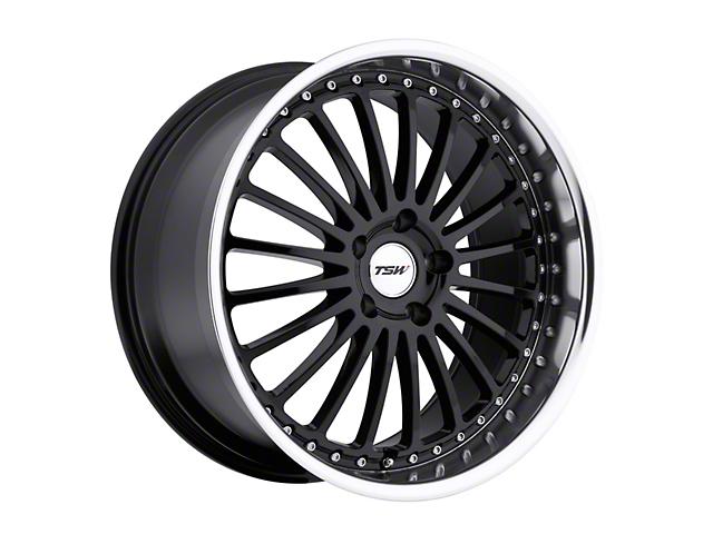 TSW Silverstone Gloss Black w/ Mirror Cut Lip Wheel - 20x10 - Rear Only (15-19 GT, EcoBoost, V6)