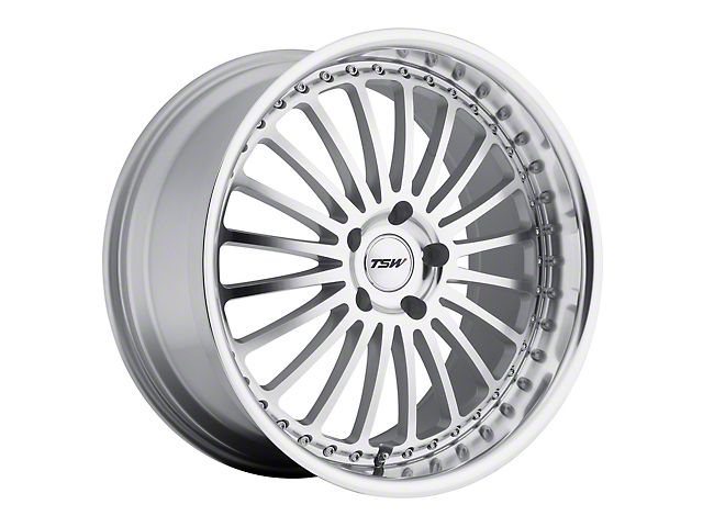 TSW Silverstone Silver Wheel; Rear Only; 20x10 (15-20 GT, EcoBoost, V6)