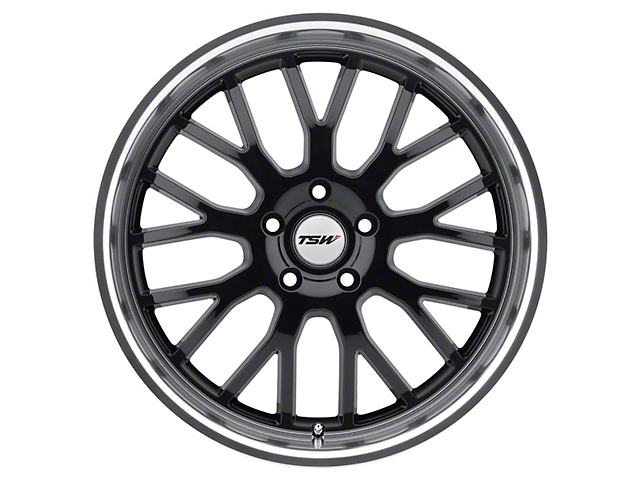 TSW Tremblant Gloss Black with Mirror Cut Lip Wheel; Rear Only; 20x10 (05-09 All)