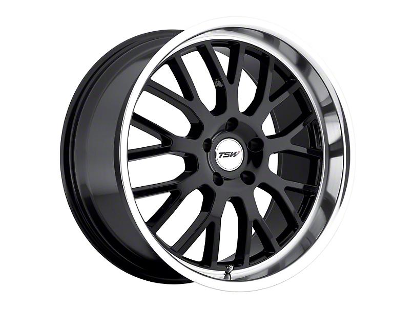 TSW Tremblant Gloss Black with Mirror Cut Lip Wheel; 19x8 (15-20 GT, EcoBoost, V6)