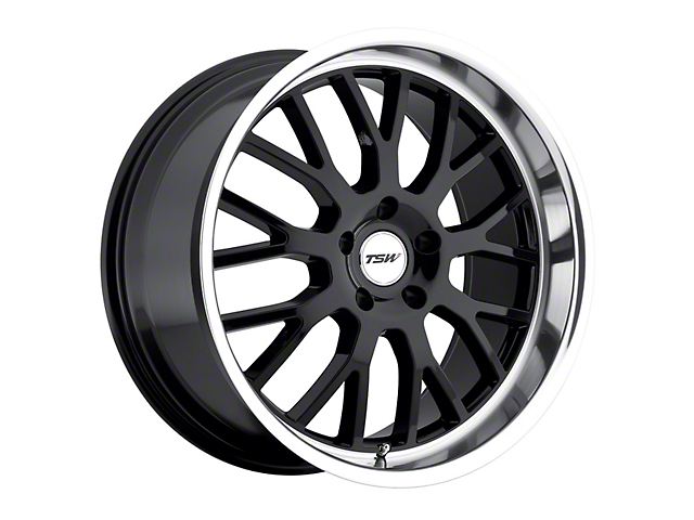 TSW Tremblant Gloss Black with Mirror Cut Lip Wheel; Rear Only; 19x9.5 (15-20 GT, EcoBoost, V6)