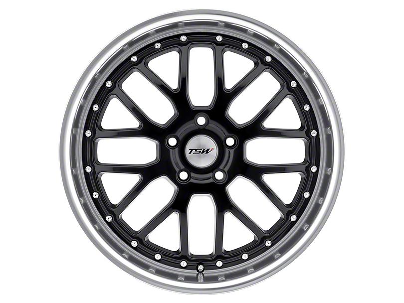 TSW Valencia Gloss Black with Mirror Cut Lip Wheel; Rear Only; 19x9.5 (05-09 All)