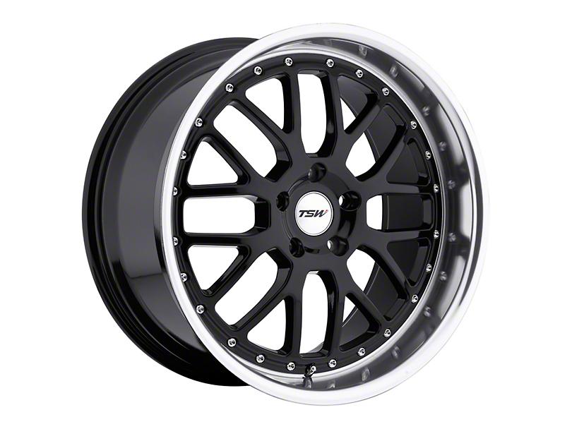 TSW Valencia Gloss Black with Mirror Cut Lip Wheel; 19x8 (15-20 GT, EcoBoost, V6)