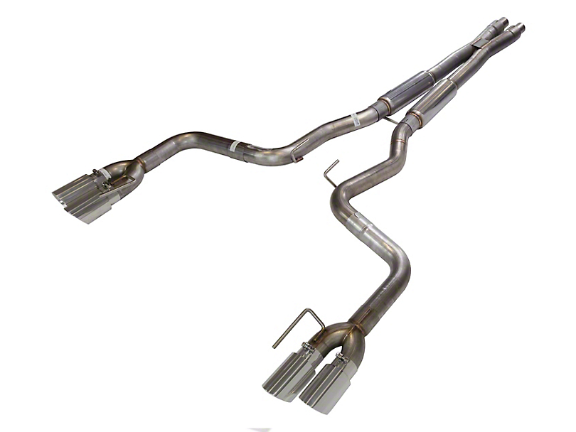 Pypes X-Bomb Cat-Back Exhaust with Polished Tips (18-20 GT w/o Active Exhaust)