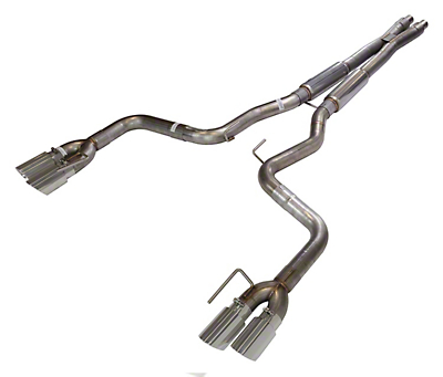 Pypes X-Bomb Cat-Back Exhaust w/ Polished Tips (18-19 GT w/o Active Exhaust)