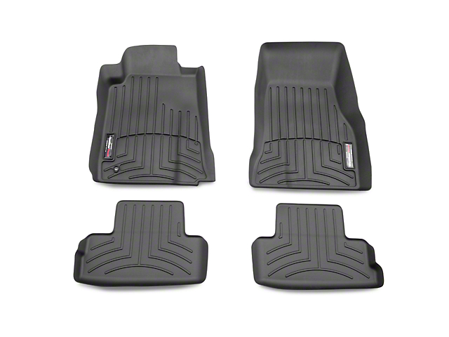 Weathertech DigitalFit Front and Rear Floor Liners; Black (05-09 All)