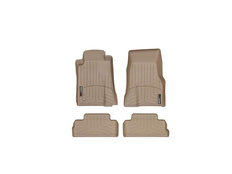 Weathertech DigitalFit Front and Rear Floor Liners; Tan (05-09 All)